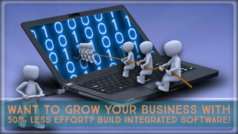 Want to Grow Your Business with 50% Less Effort? Build Integrated Software!